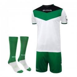 Komplet Givova Campo Kit Zielono-Biały