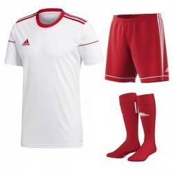 Komplet Adidas Squadra 17 Set Biały/Czerwony
