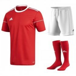 Komplet Adidas Squadra 17 Set Czerwony/Biały
