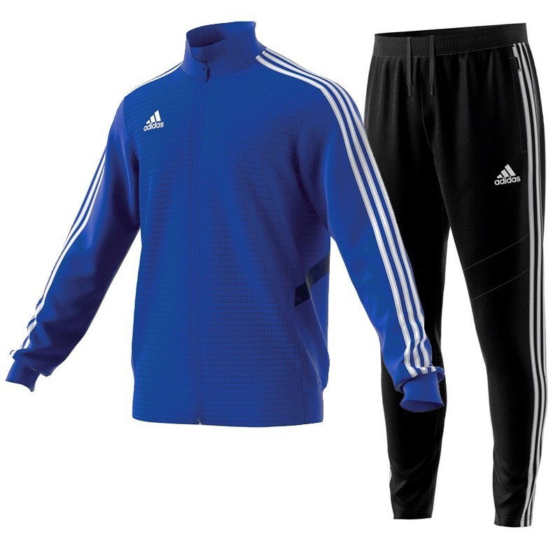 bb9d09afe4147 Dres Adidas JR Tiro 19 Komplet Niebieski Czarny