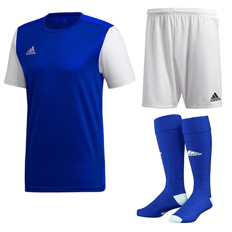 2e047b6c96ee12 Komplet Junior Adidas Estro 19 Set Niebieski/Biały